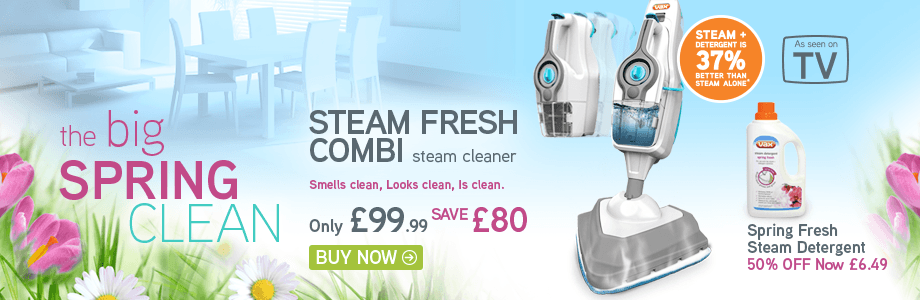VAX Steam Fresh Combi 2-in-1 Steam Cleaner