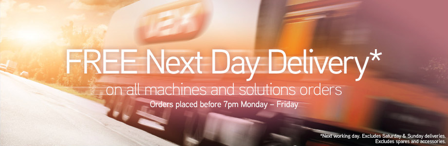 VAX Free Next Day Delivery on All Machine & Solution Orders